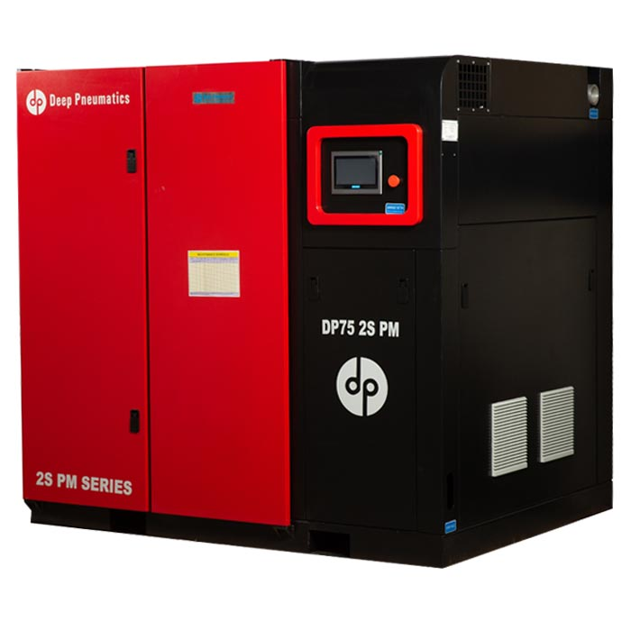 2S PM SERIES – TWO STAGE PM MOTOR WITH VFD SCREW AIR COMPRESSOR